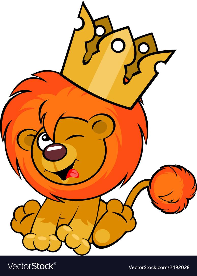 Cute lion crown vector | Price: 1 Credit (USD $1)