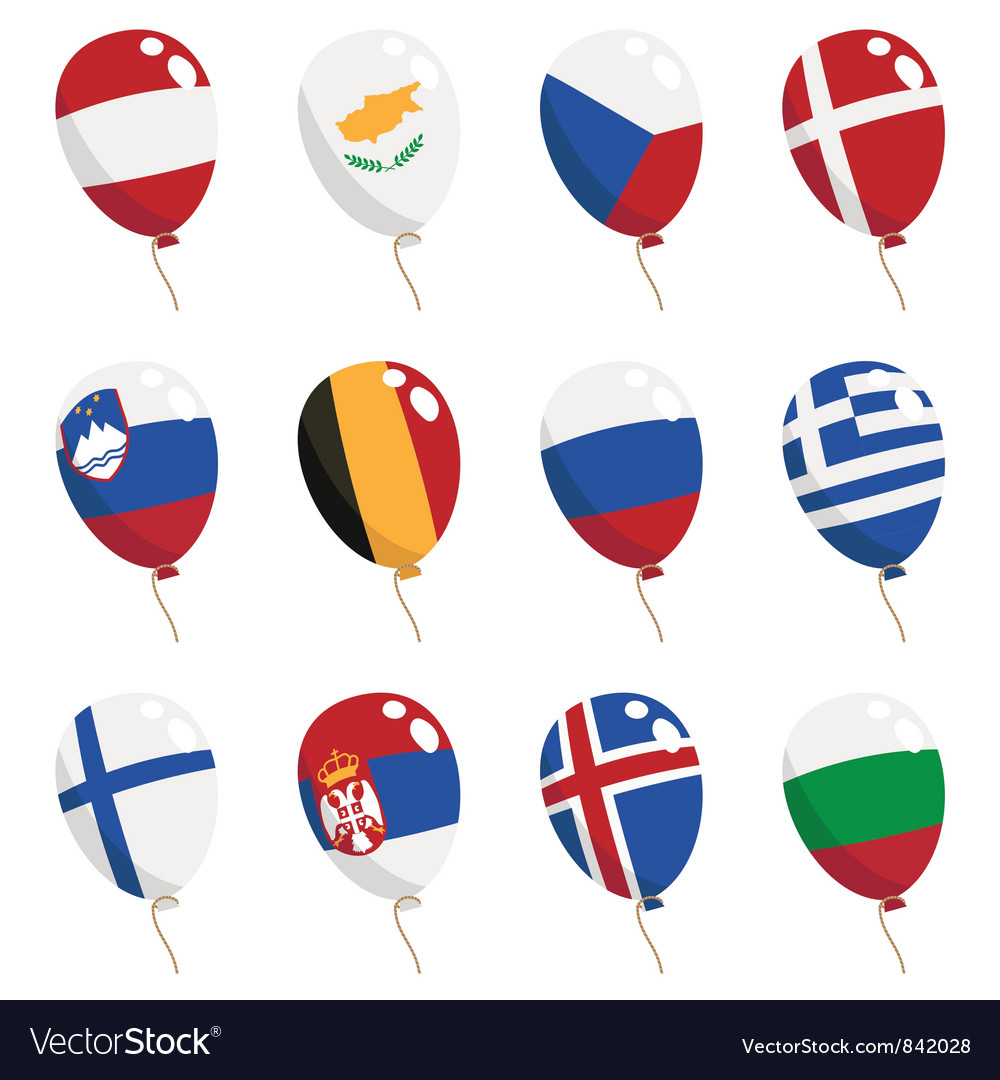 Flag balloons vector | Price: 1 Credit (USD $1)