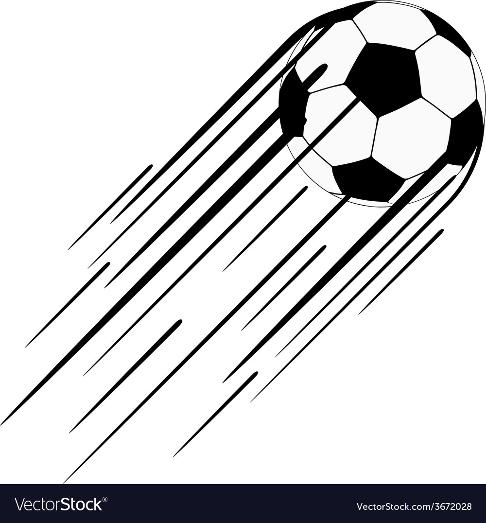 Soccer ball with trail vector | Price: 1 Credit (USD $1)