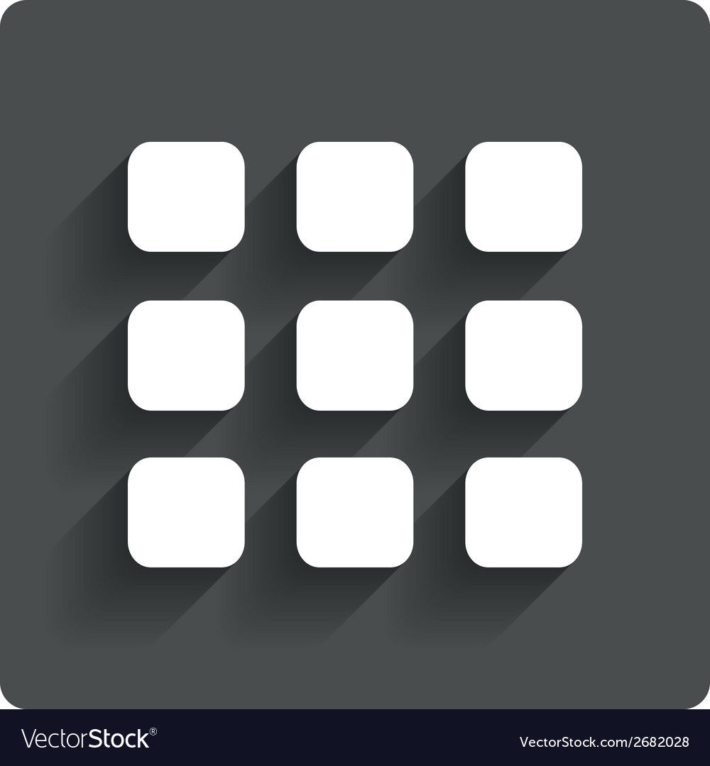 Thumbnails grid icon gallery view symbol vector | Price: 1 Credit (USD $1)