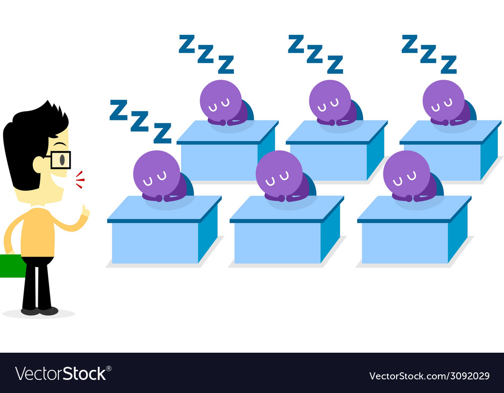 Boring lecturer vector   Price: 1 Credit (USD $1)
