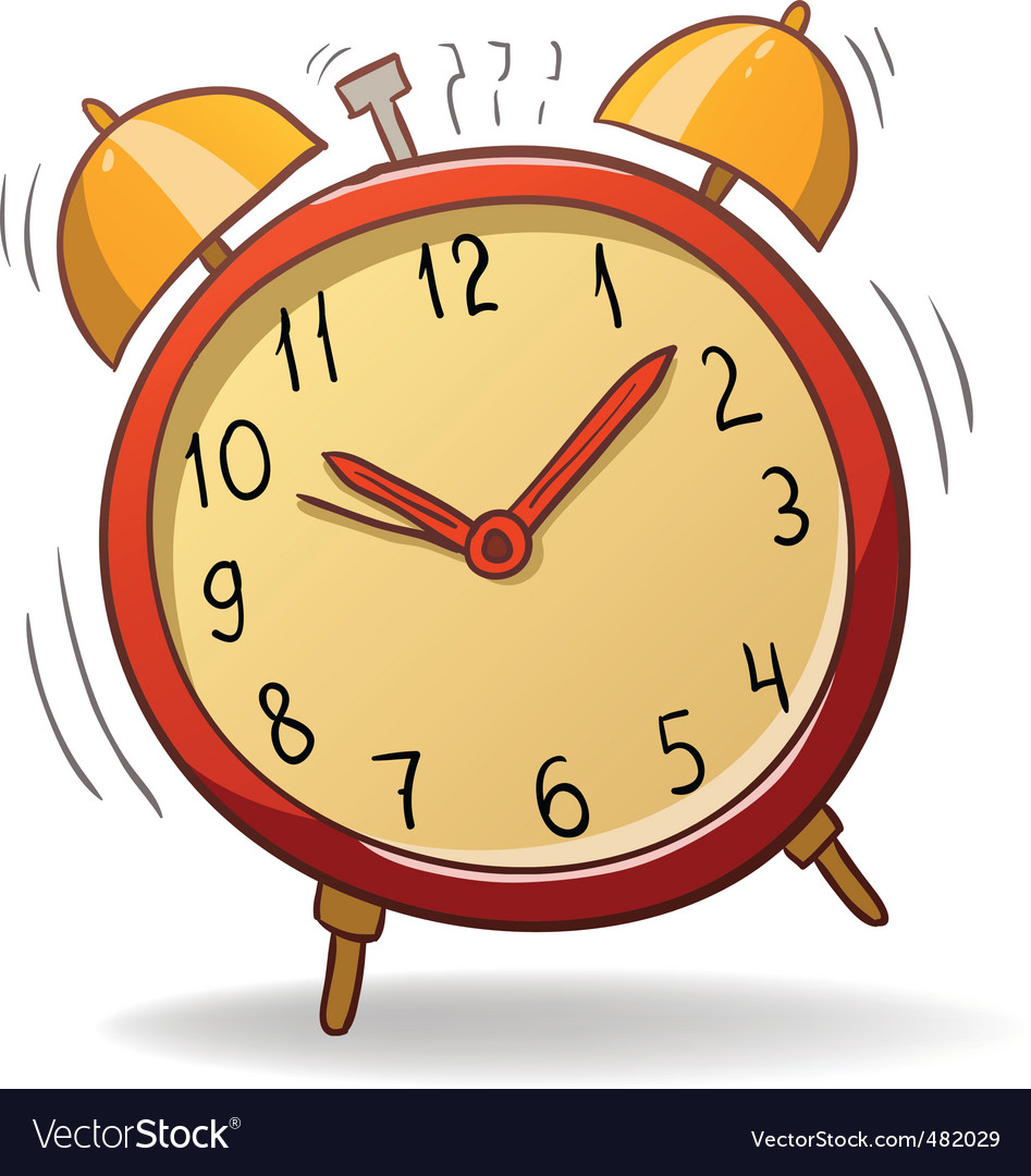 Cartoon alarm clock vector | Price: 1 Credit (USD $1)