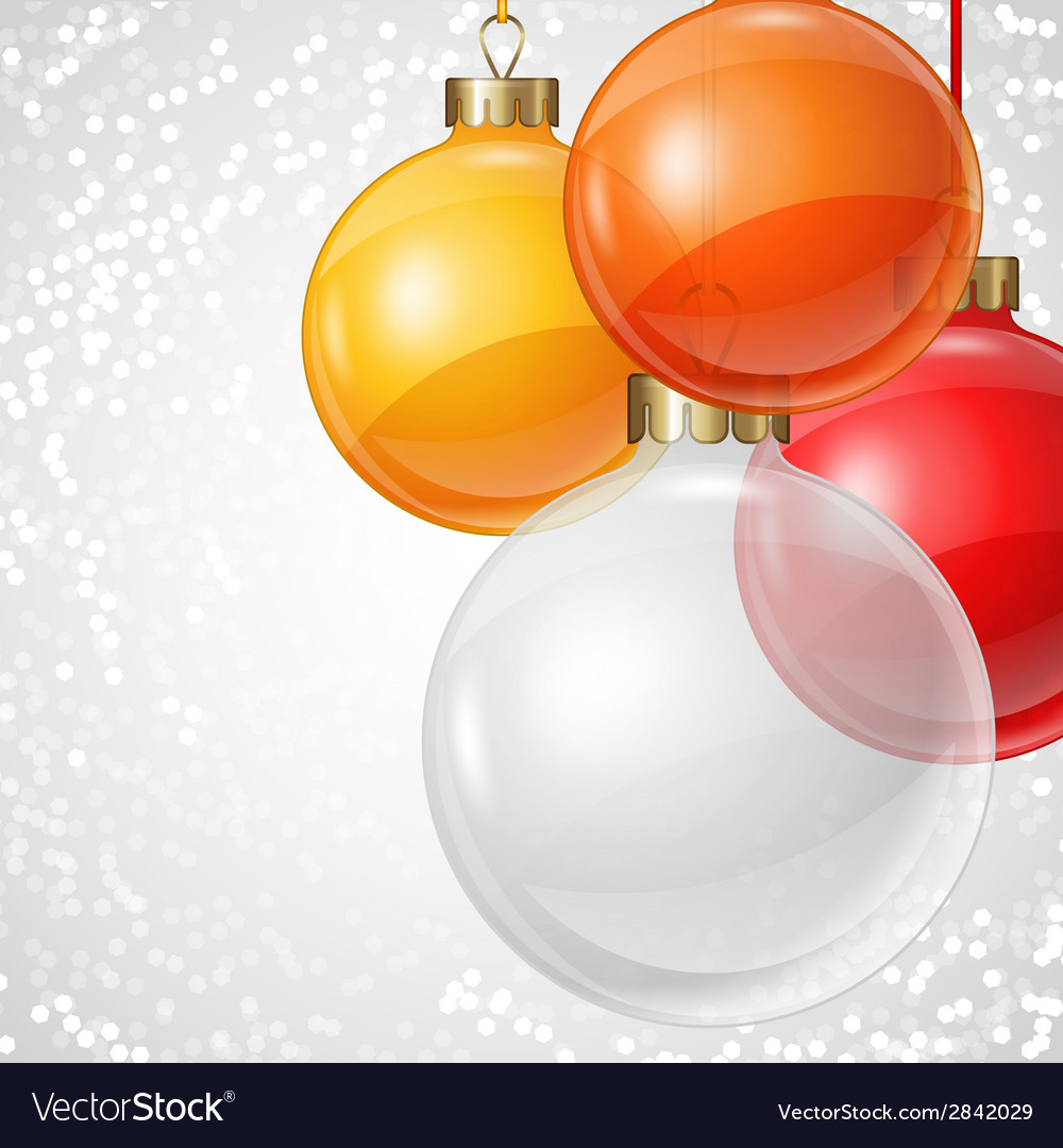 Holiday background card template with christmas vector | Price: 1 Credit (USD $1)