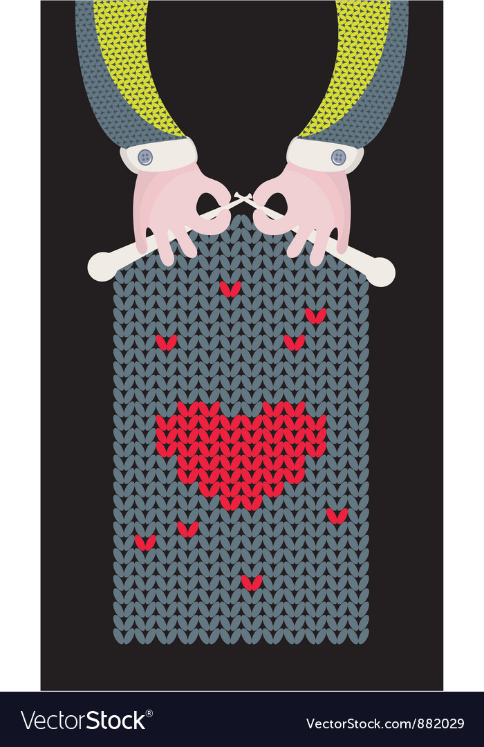 Knitted love vector   Price: 1 Credit (USD $1)