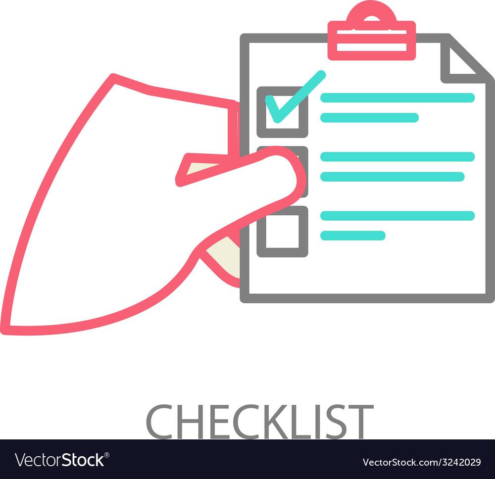 Line of a checklist vector | Price: 1 Credit (USD $1)