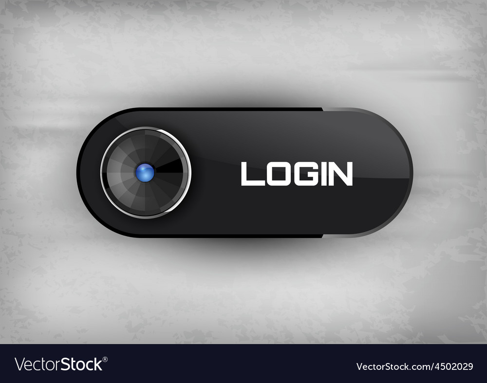 Login button vector