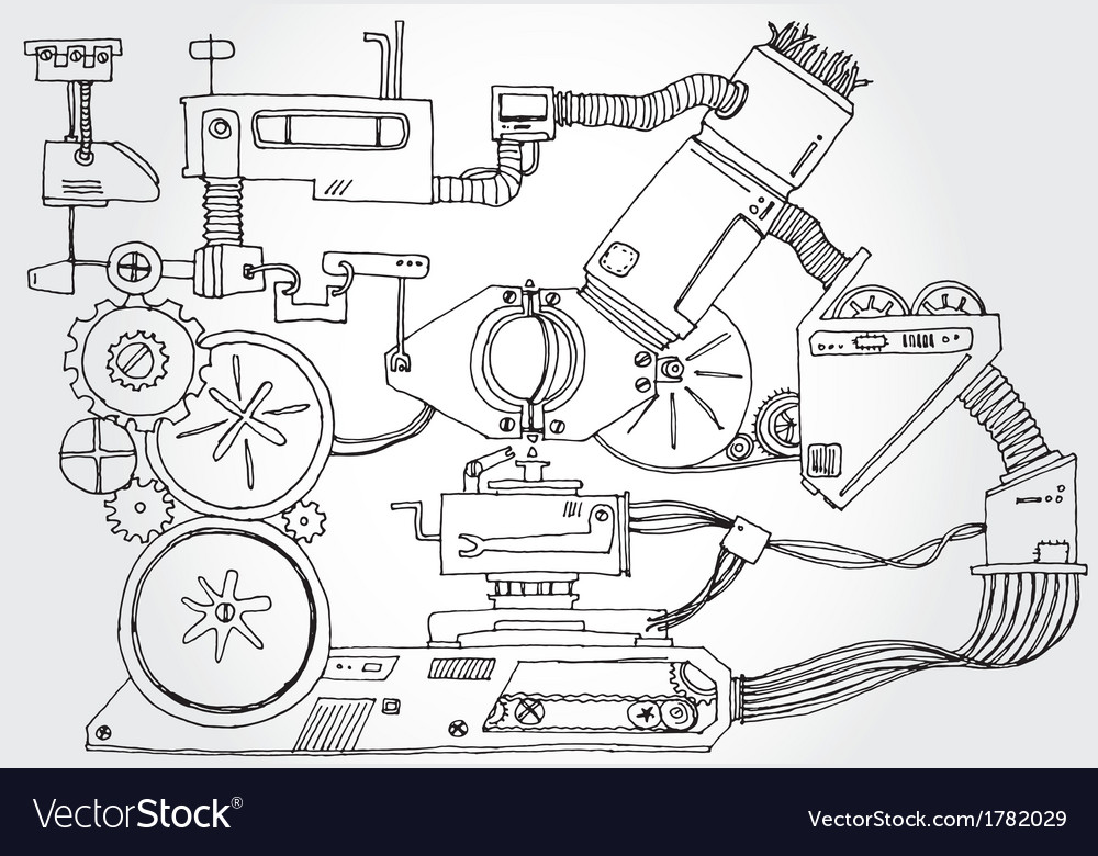 Mechanism hand drawn vector | Price: 1 Credit (USD $1)