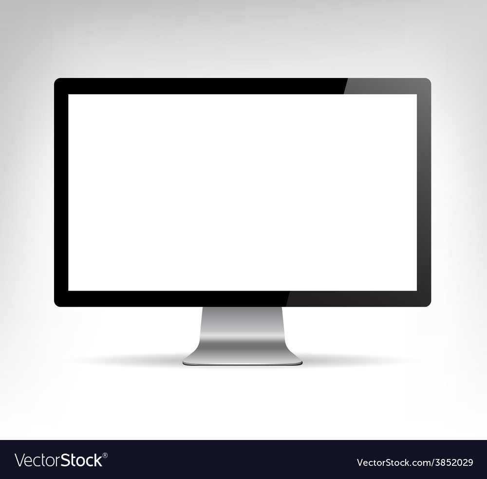 Realistic computer monitor pc display vector | Price: 1 Credit (USD $1)