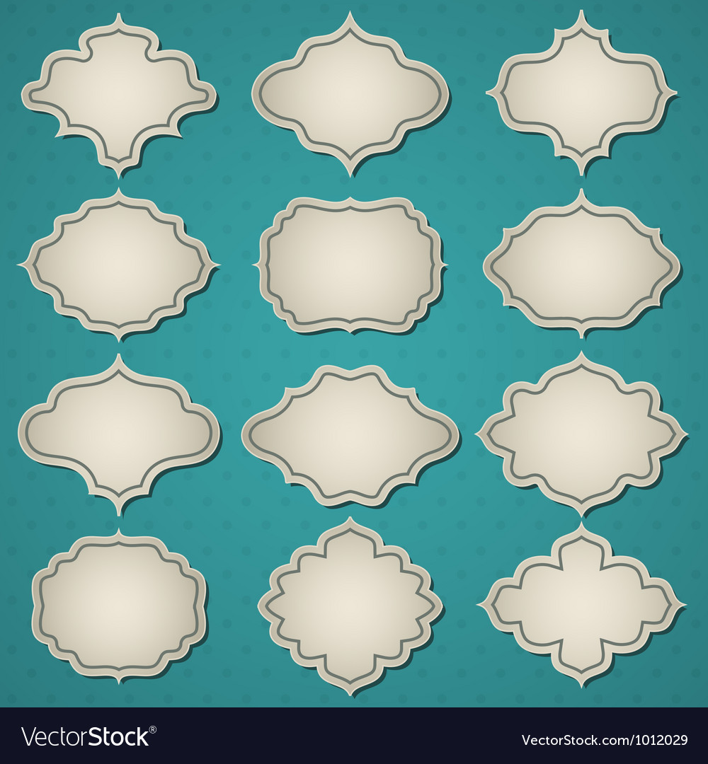 Retro frames vector | Price: 1 Credit (USD $1)