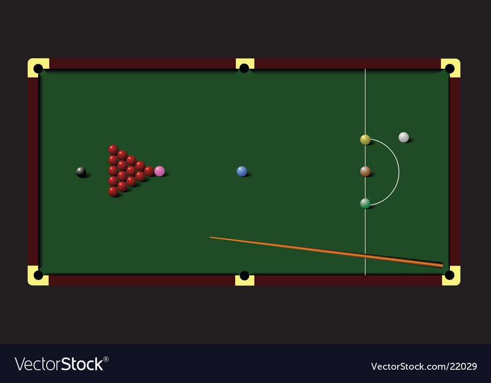 Snooker table vector | Price: 1 Credit (USD $1)
