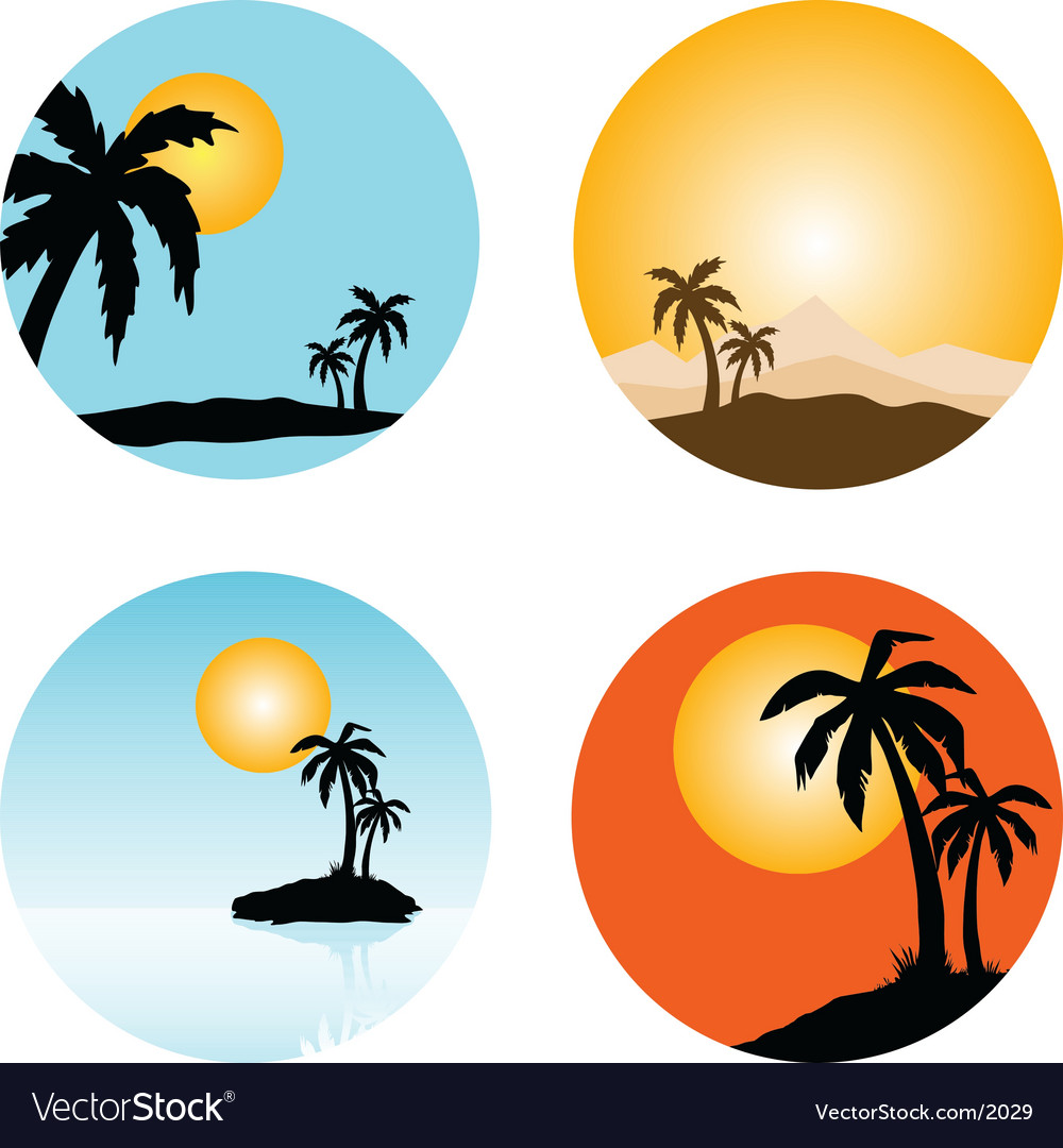 Summer scenes vector | Price: 1 Credit (USD $1)