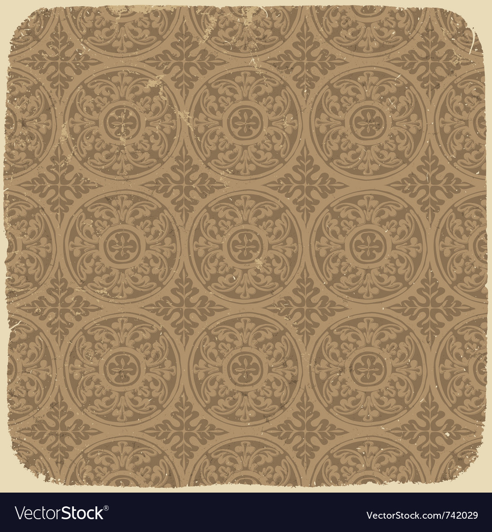 Vintage beige pattern vector | Price: 1 Credit (USD $1)