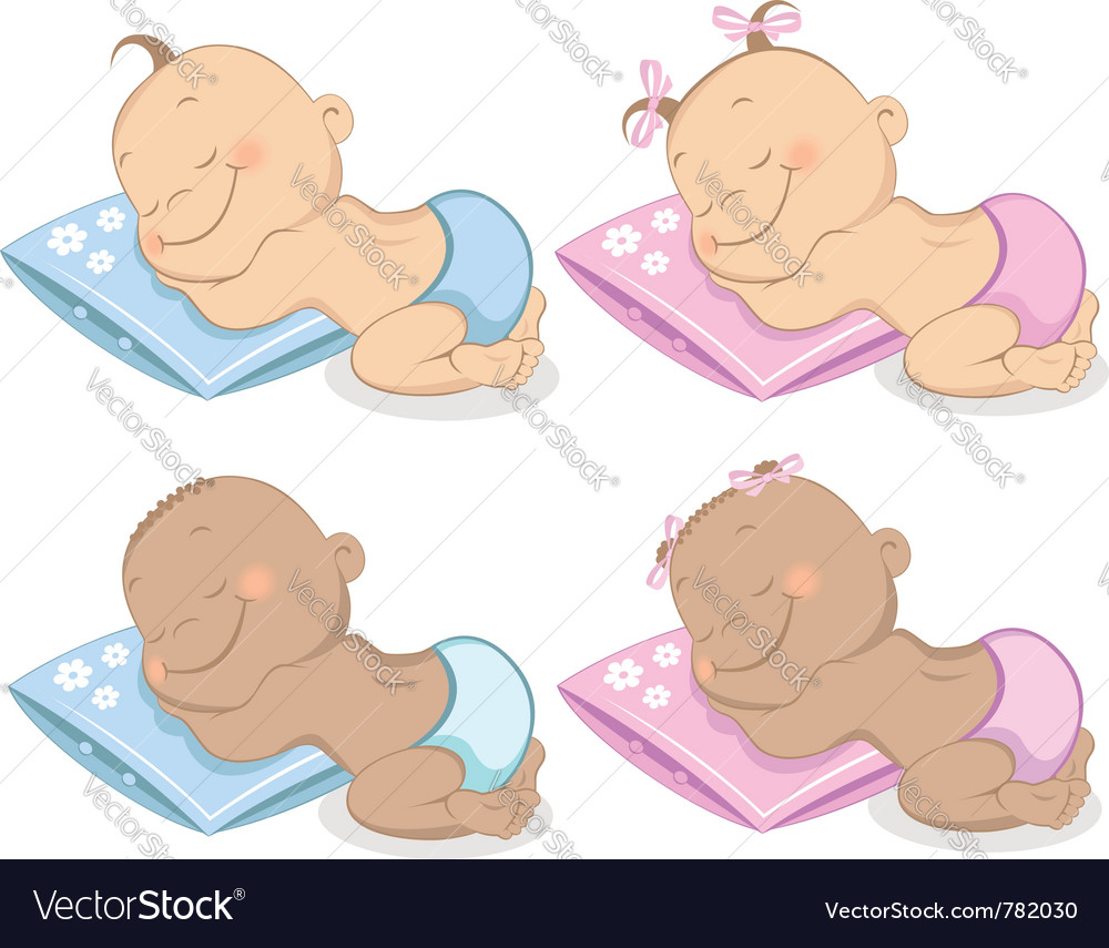 Babies boy and girl vector | Price:  Credit (USD $)