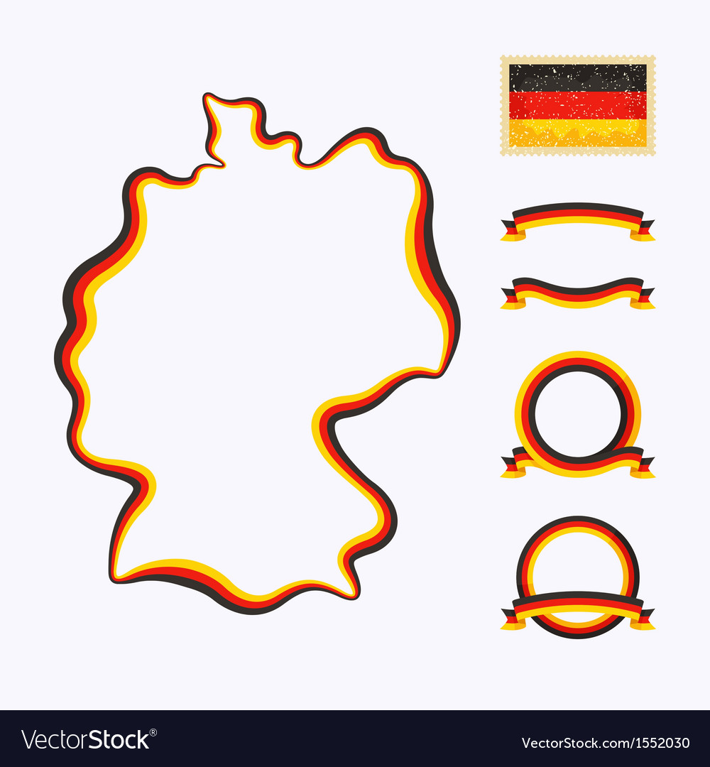 Colors of germany vector | Price: 1 Credit (USD $1)