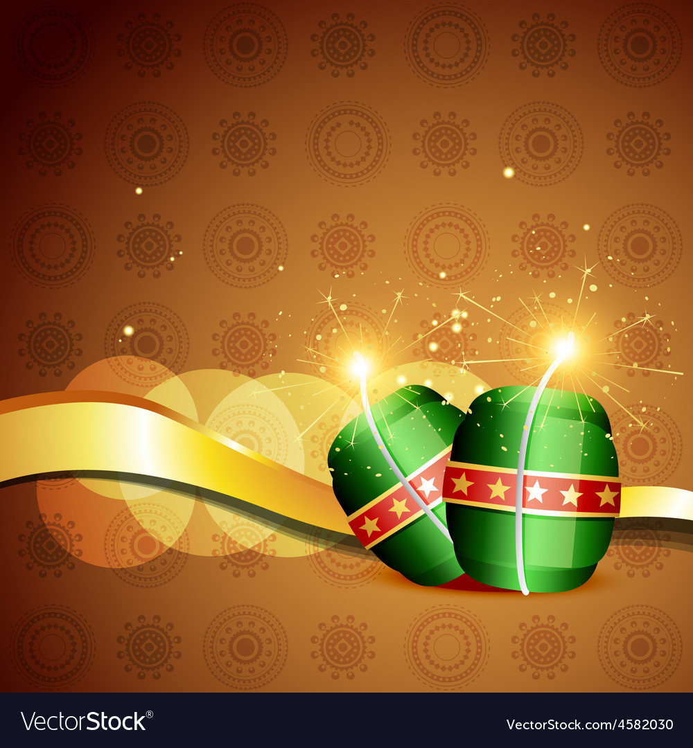 Diwali crackers background vector | Price: 1 Credit (USD $1)