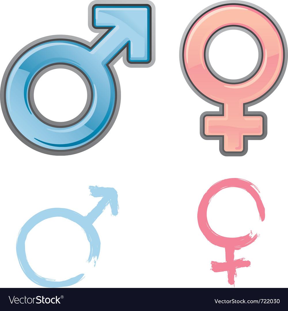Gender symbols vector | Price: 1 Credit (USD $1)