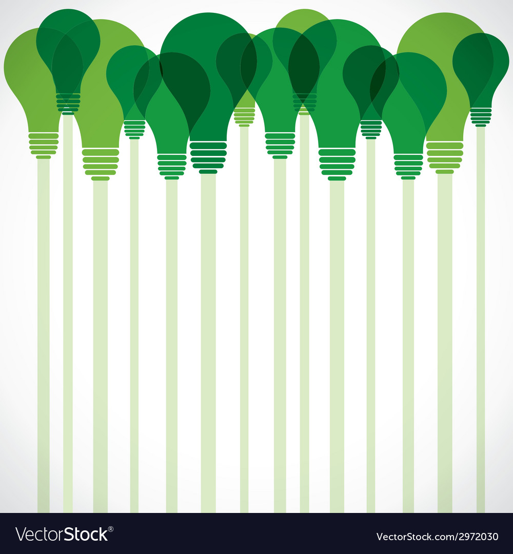 Green bulb stock background vector | Price: 1 Credit (USD $1)