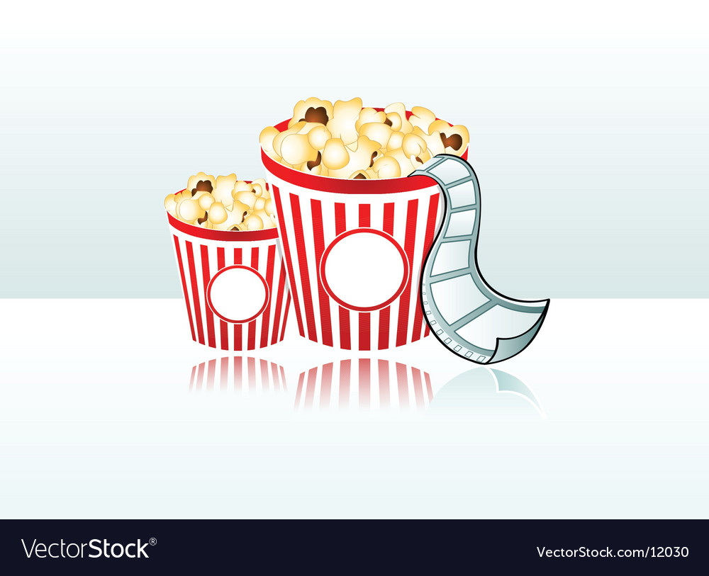 Movie time background vector | Price: 1 Credit (USD $1)