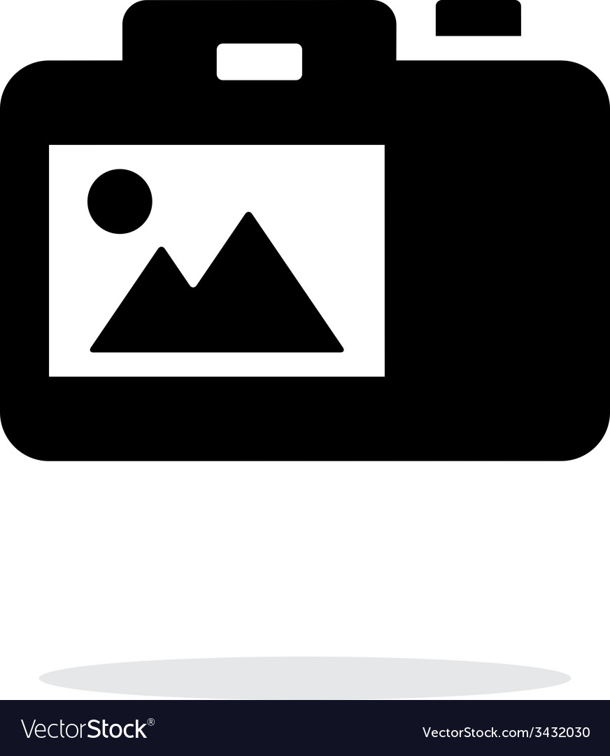 Slr camera simple icon on white background vector | Price: 1 Credit (USD $1)