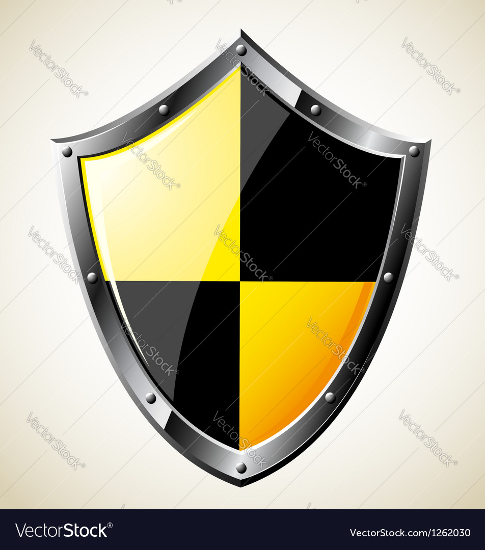 Steel glossy shield vector | Price: 1 Credit (USD $1)