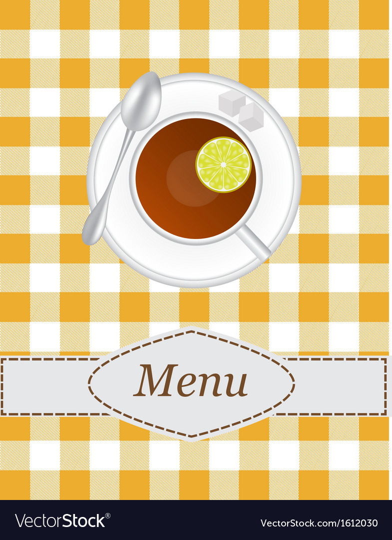 Tea menu vector | Price: 1 Credit (USD $1)