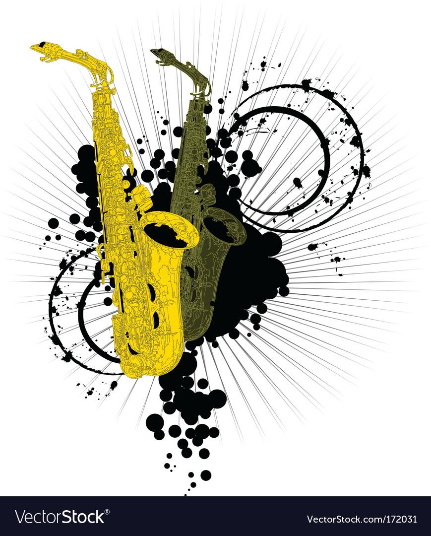 Abstract saxophones vector | Price: 1 Credit (USD $1)
