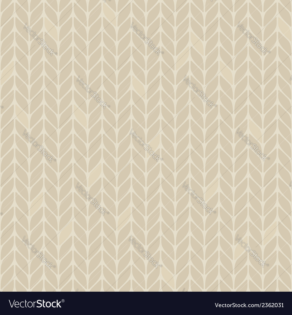Beige knitted seamless pattern vector | Price: 1 Credit (USD $1)
