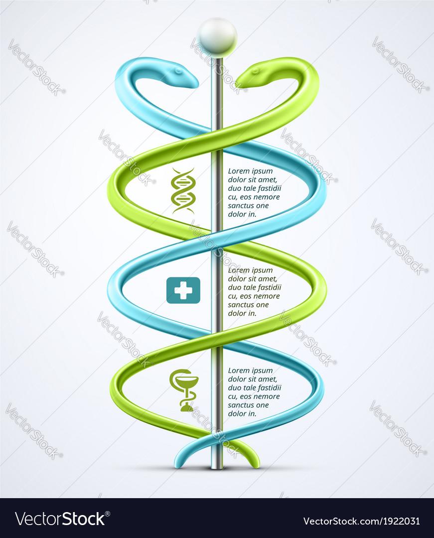 Caduceus medical infographic vector   Price: 1 Credit (USD $1)
