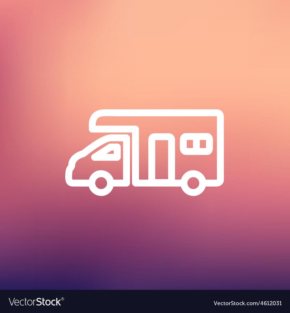 Camper van thin line icon vector | Price: 1 Credit (USD $1)