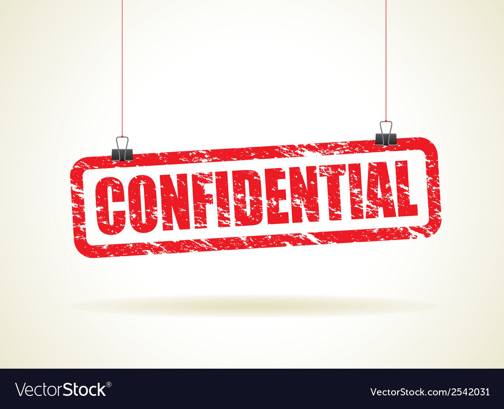 Confidential red vector | Price: 1 Credit (USD $1)