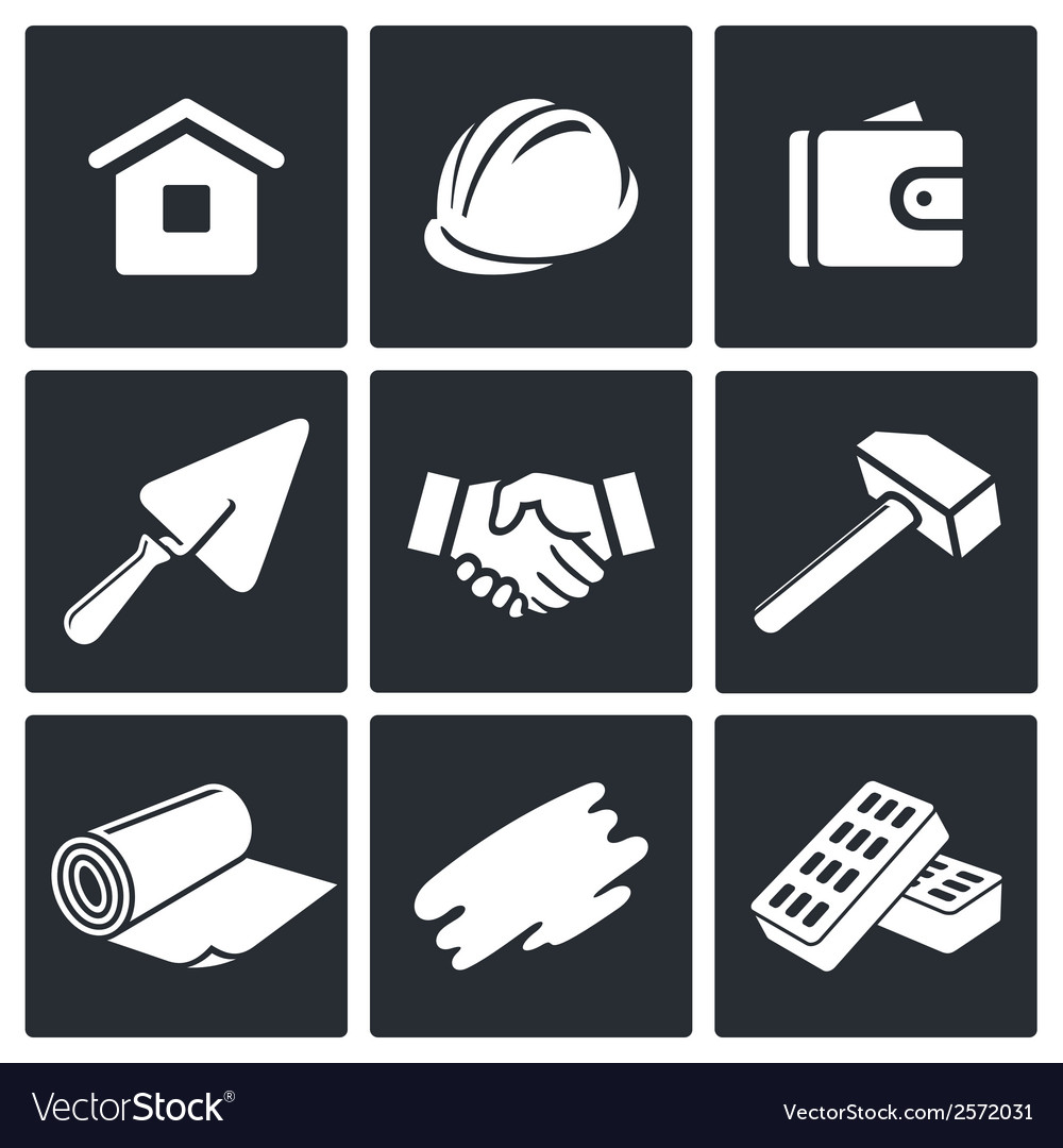 Construction and home repair icons set vector | Price: 1 Credit (USD $1)