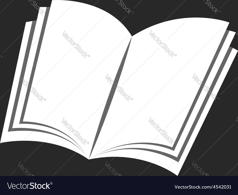 Isolated book icon black and white background vector | Price: 1 Credit (USD $1)