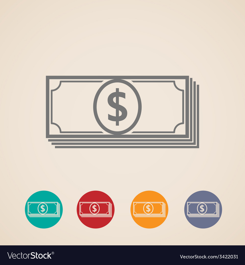 Money stack icons vector | Price: 1 Credit (USD $1)