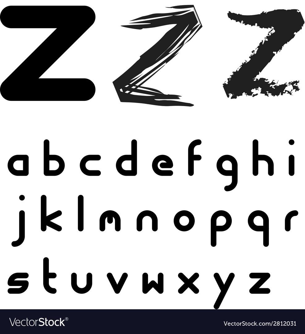 Original font alphabet - easy apply any stroke vector | Price: 1 Credit (USD $1)