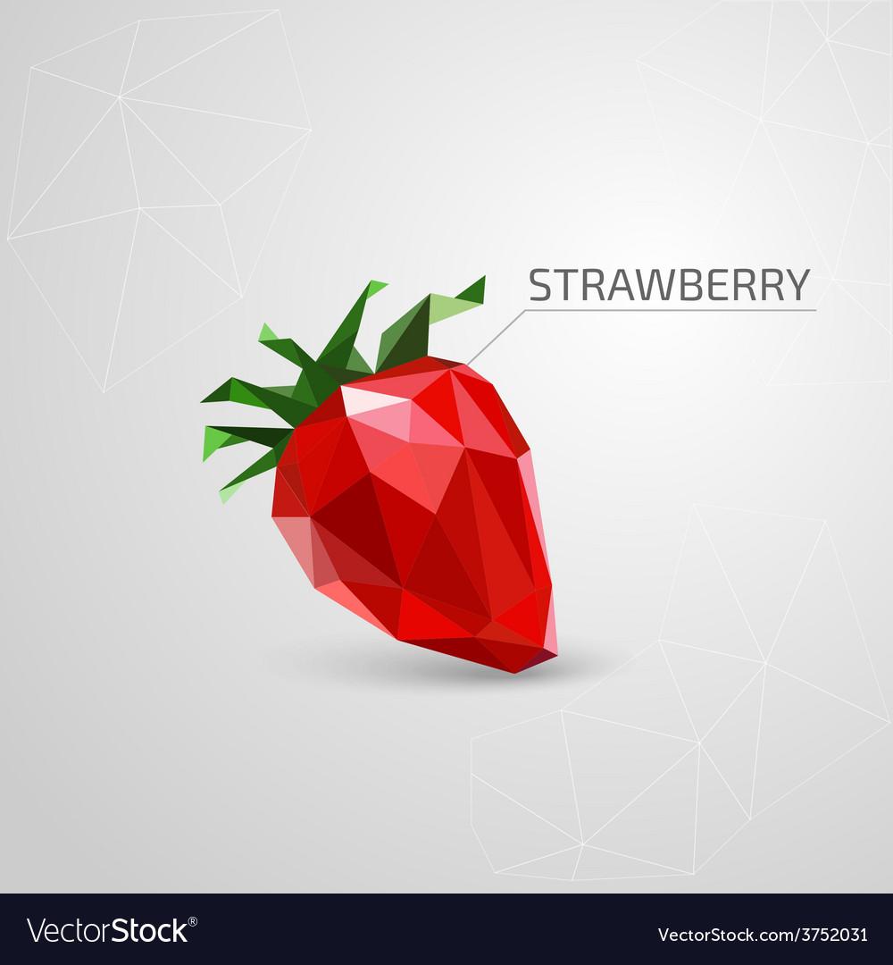 Polygon strawberry vector | Price: 1 Credit (USD $1)
