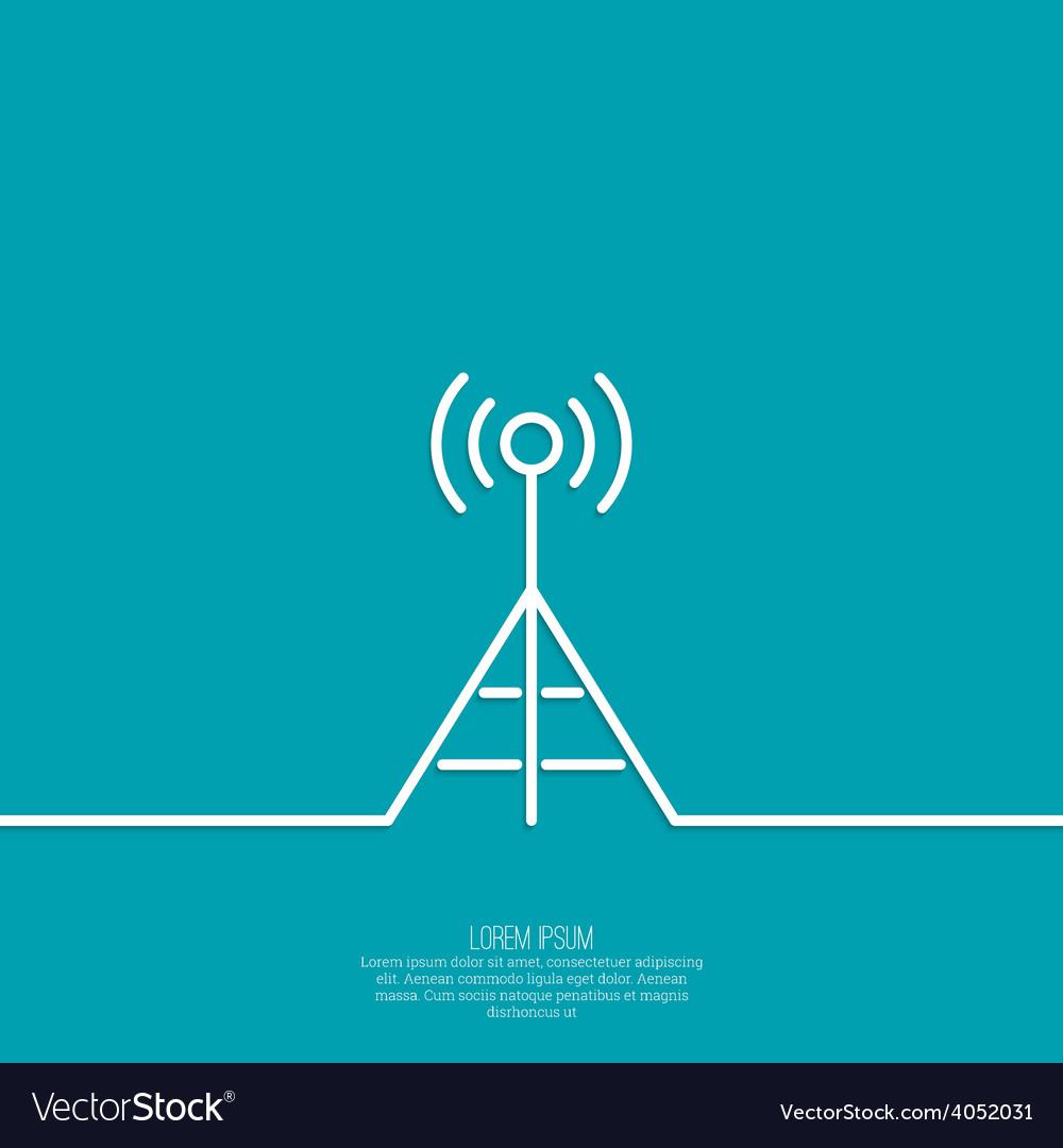 Radio antenna vector | Price: 1 Credit (USD $1)