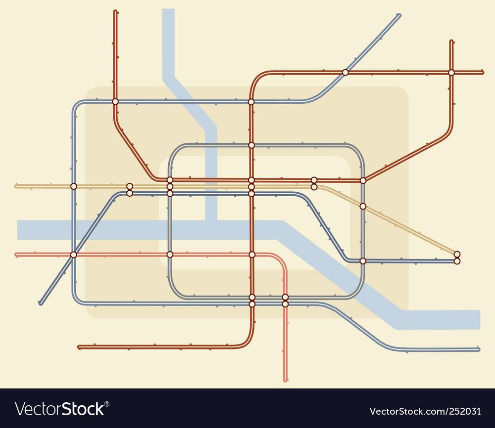 Underground map vector | Price: 1 Credit (USD $1)