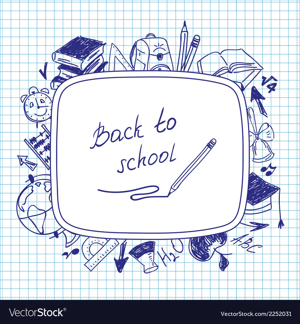 Welcome back to school school background of school vector | Price: 1 Credit (USD $1)