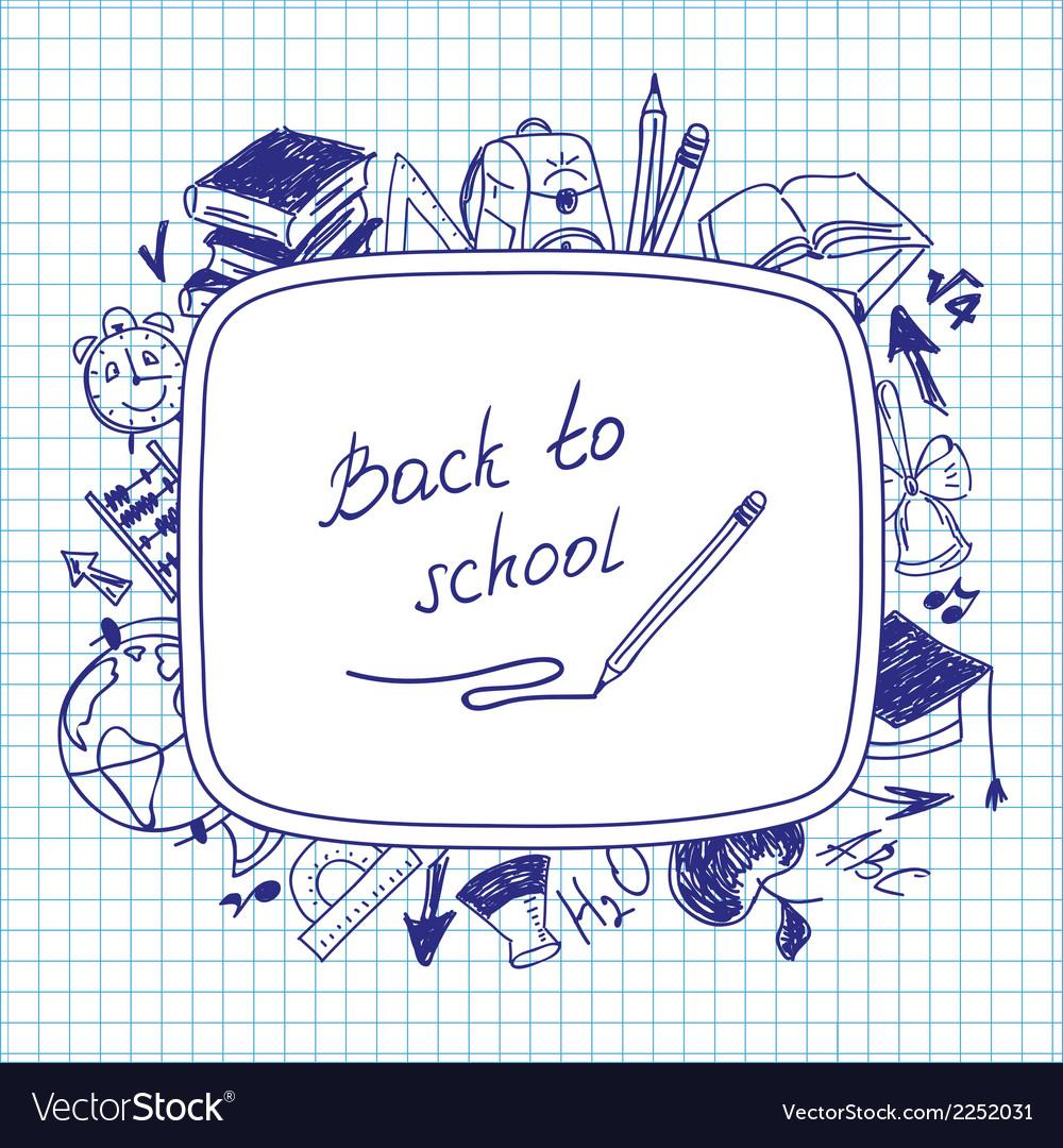 Welcome back to school school background of school vector | Price: 1 Credit (USD $1)