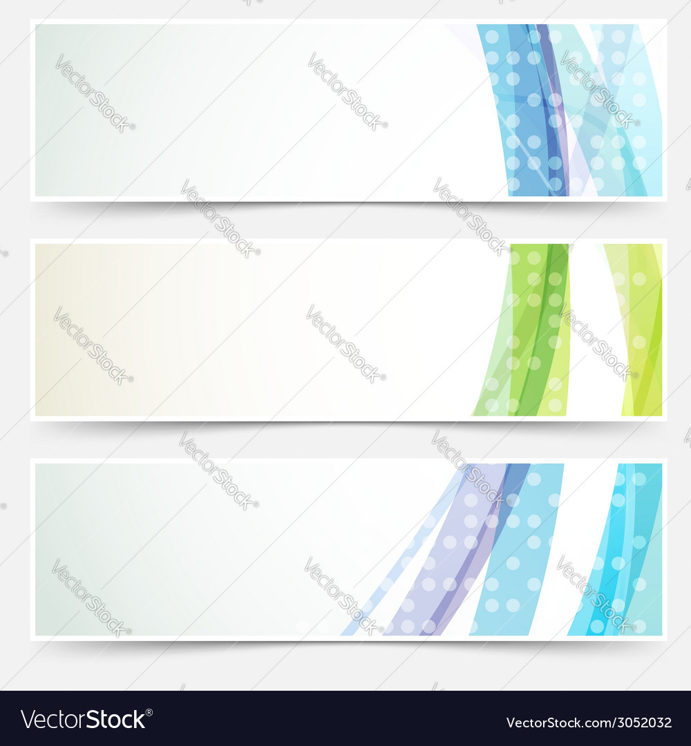 Bright abstract cards headers footers set vector | Price: 1 Credit (USD $1)