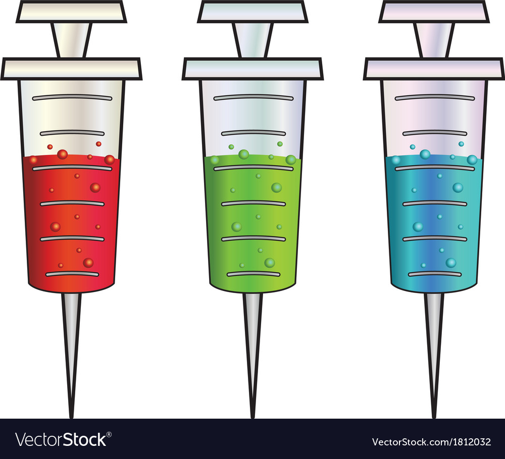 Cartoon syringes rgb vector | Price: 1 Credit (USD $1)