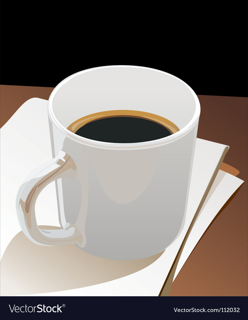 Cup black coffee vector | Price: 1 Credit (USD $1)