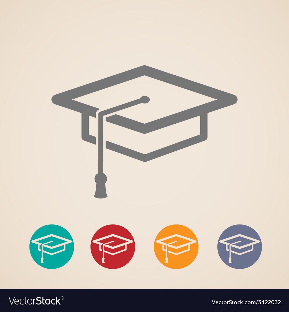 Graduation cap icons vector | Price: 1 Credit (USD $1)