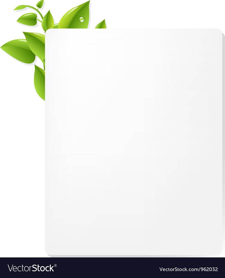 Leaf decorated document vector   Price: 1 Credit (USD $1)