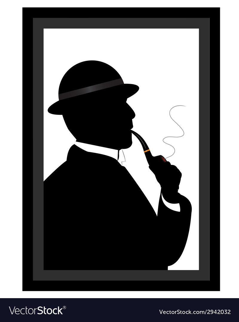 Man smoking a pipe vector | Price: 1 Credit (USD $1)