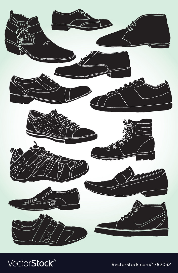 Men shoes negative vector | Price: 1 Credit (USD $1)