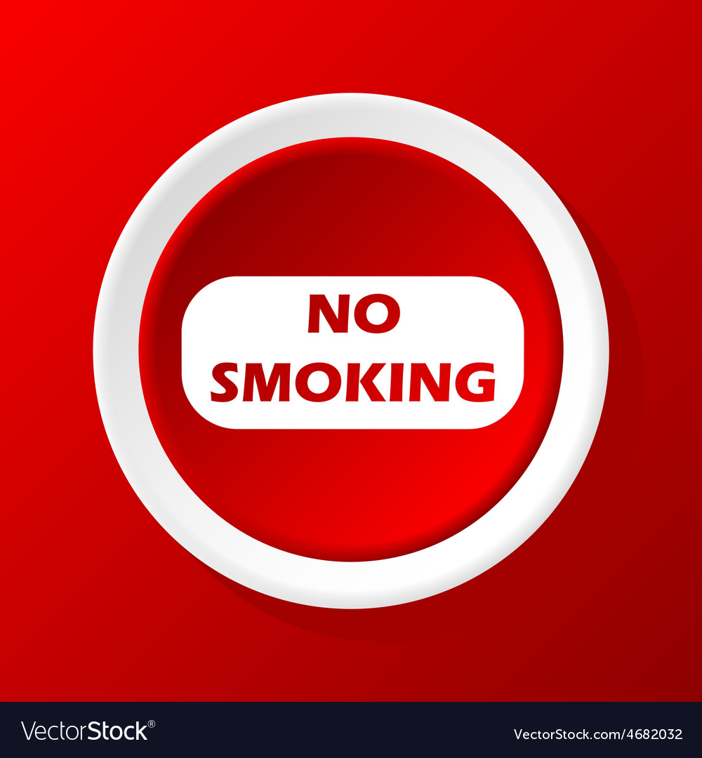 No smoking icon on red vector | Price: 1 Credit (USD $1)