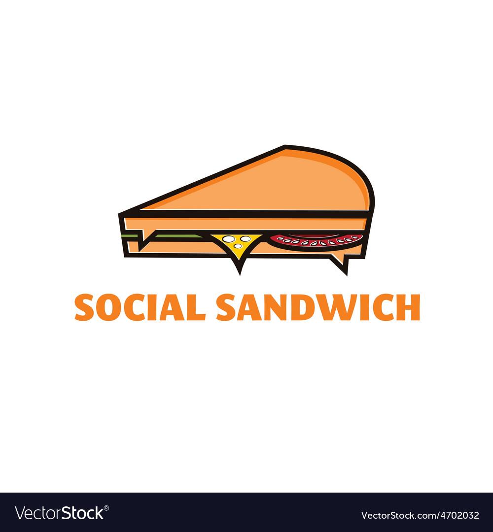 Social sandwich concept design template vector | Price: 1 Credit (USD $1)
