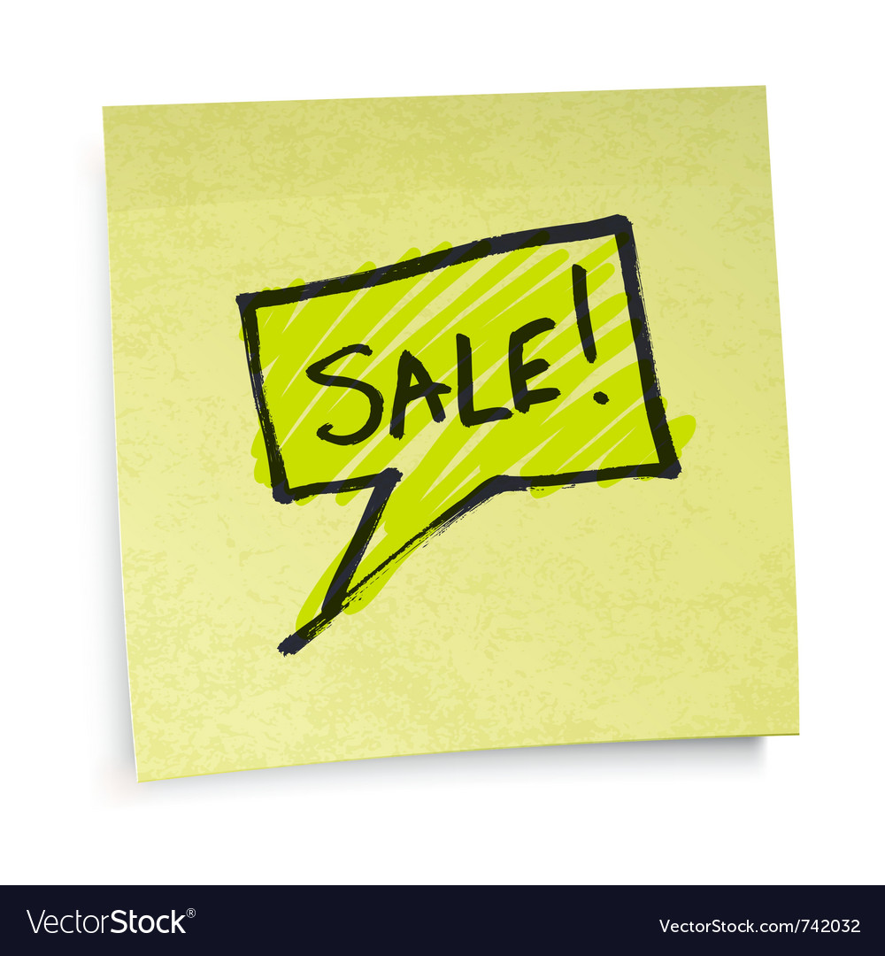 Sticky note sale vector | Price: 1 Credit (USD $1)