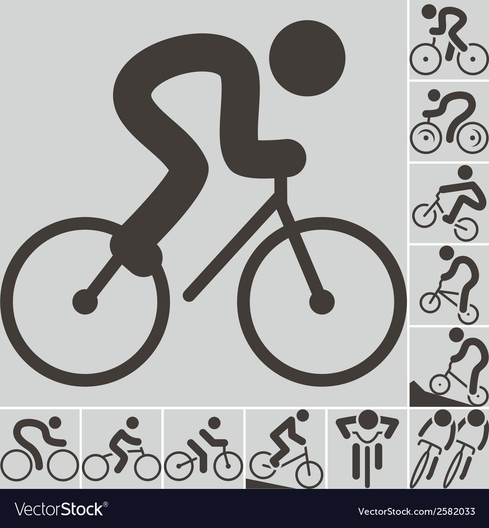 2292 set of cycling icons vector | Price: 1 Credit (USD $1)
